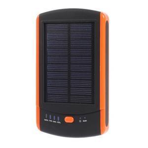 CEX solární externí nabíjačka 6 000 mAh - oranžová - 1