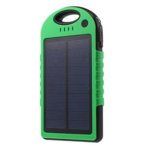Outdoor GX vysokokapacitní externí solární nabíjačka 12 000 mAh - zelená/čierná - 1