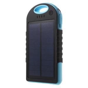 Outdoor GX vysokokapacitní externí solární nabíjačka 12 000 mAh - modrá - 1