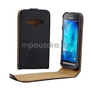 Flipové puzdro na Samsung Galaxy Xcover 3 - čierné - 1