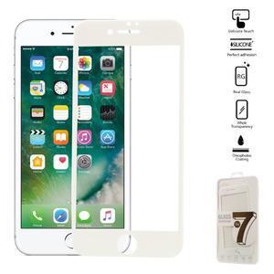 GT celoplošné fixační tvrdené sklo na iPhone 7 Plus a iPhone 8 Plus - biele - 1