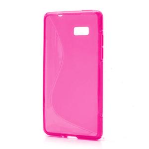 Gélové S-line puzdro pre HTC Desire 600- růžové - 1