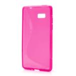 Gélové S-line puzdro pre HTC Desire 600- růžové - 1/6