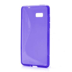 Gélové S-line puzdro pre HTC Desire 600- fialové - 1