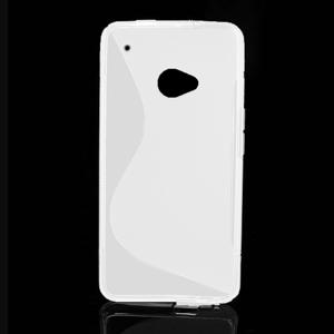 Gélové S-line puzdro pre HTC one M7- biele