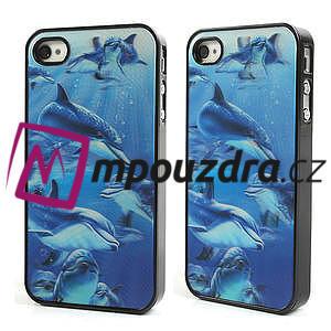 3D puzdro pre iPhone 4 4S - delfín - 1