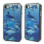 3D puzdro pre iPhone 4 4S - delfín - 1/6