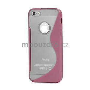 S-line hybrid puzdro pre iPhone 5, 5s- svetleružové - 1