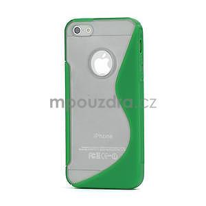 S-line hybrid puzdro pre iPhone 5, 5s- zelené - 1