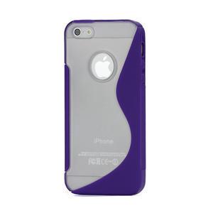 S-line hybrid puzdro pre iPhone 5, 5s- fialové - 1