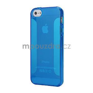 Gélové puzdro pre iPhone 5, 5s- modré - 1