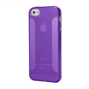 Gélové puzdro pre iPhone 5, 5s- fialové - 1