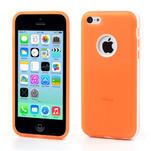 Gélové rámové puzdro pre iPhone 5C- oranžové - 1/5