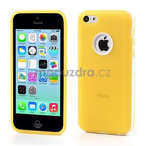 Gélové rámové puzdro pre iPhone 5C- žlté - 1