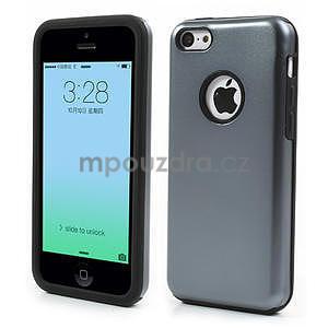 Gélové metalické puzdro pre iPhone 5C- šedé - 1