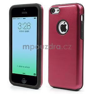 Gélové metalické puzdro pre iPhone 5C- červené - 1
