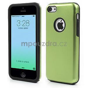 Gélové metalické puzdro pre iPhone 5C- zelené - 1