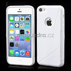 Gélové S-line puzdro pre iPhone 5C- biele - 1