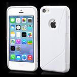 Gélové S-line puzdro pre iPhone 5C- biele - 1/6