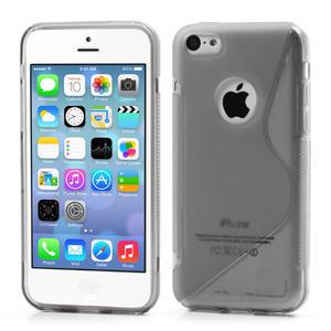 Gélové S-line puzdro pre iPhone 5C- šedé - 1
