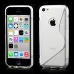 Gélové S-line puzdro pre iPhone 5C- transparentný - 1/6