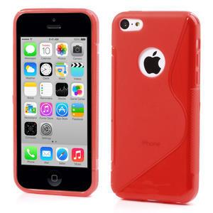 Gélové S-line puzdro pre iPhone 5C- červené - 1