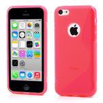 Gélové S-line puzdro pre iPhone 5C- růžové - 1/4