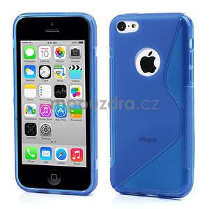 Gélové S-line puzdro pre iPhone 5C- modré - 1
