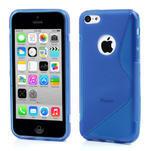 Gélové S-line puzdro pre iPhone 5C- modré - 1/4