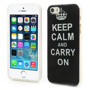 Gélové puzdro na iPhone 5, 5s- zachovat klid - 1