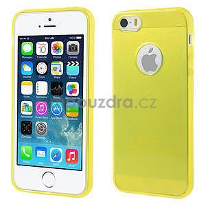 Gel-ultra slim puzdro pre iPhone 5, 5s- žlté - 1