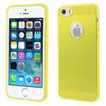 Gel-ultra slim puzdro pre iPhone 5, 5s- žlté - 1/5