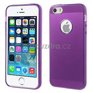 Gel-ultra slim puzdro pre iPhone 5, 5s-fialové - 1