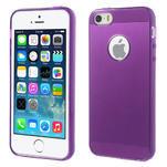 Gel-ultra slim puzdro pre iPhone 5, 5s-fialové - 1/5