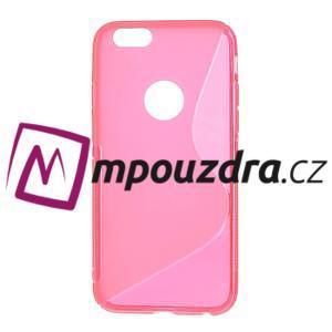 Gélové S-line puzdro na iPhone 6, 4.7 - růžové - 1