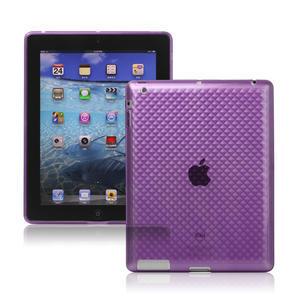 Gélové puzdro pre iPad 2, 3, 4- fialový