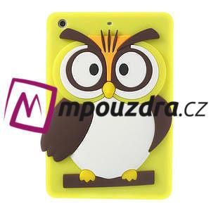 Silikonové puzdro na iPad mini 2 - žltá sova - 1