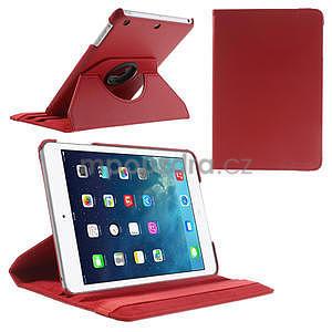 PU kožené 360° puzdro pre iPad mini- červené - 1