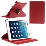 PU kožené 360° puzdro pre iPad mini- červené - 1/7