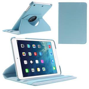 PU kožené 360° puzdro pre iPad mini- modré - 1