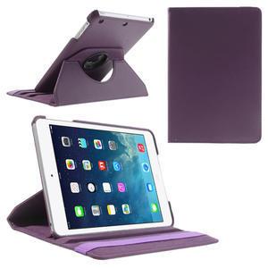 PU kožené 360° puzdro pre iPad mini- fialové - 1