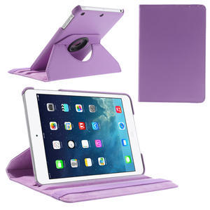 PU kožené 360° puzdro pre iPad mini- světlefialové - 1