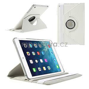 PU kožené 360° puzdro pre iPad mini- biele - 1