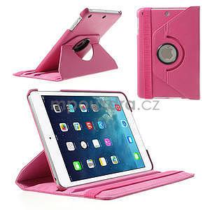 PU kožené 360° puzdro pre iPad mini- růžové - 1