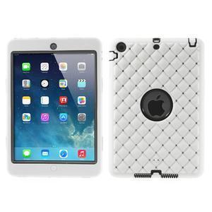 Hybridní kamínkové puzdro pre iPad mini- biele - 1