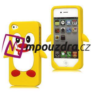 silikónový Tučniak na iPhone 4 4S - žltý - 1