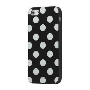 Gélové PUNTÍK puzdro pre iPhone 5, 5s- čierny - 1