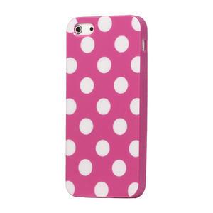 Gélové PUNTÍK puzdro pre iPhone 5, 5s- růžový - 1