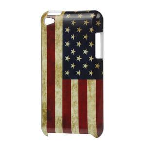 Plastové puzdro pre iPod Touch 4 - USA vlajka - 1