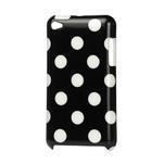 Plastové puzdro pre iPod Touch 4 - čierné bodkované - 1/2